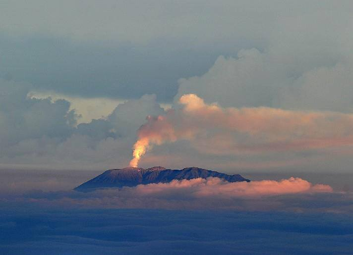 Turrialba volcano seen from the top of Chirripó mountain on 12 March, 2015